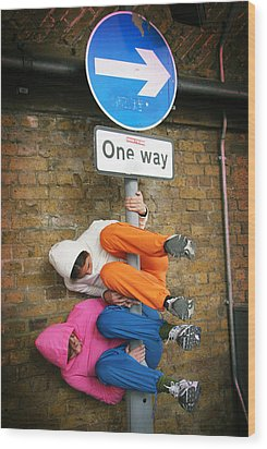 One Way Wood Print by Stephen Norris