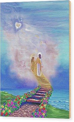 One Way To God Wood Print by Susanna  Katherine