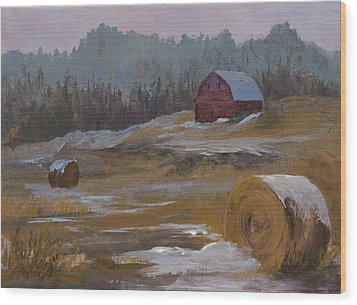 One Wintry Day Wood Print by Bev Finger