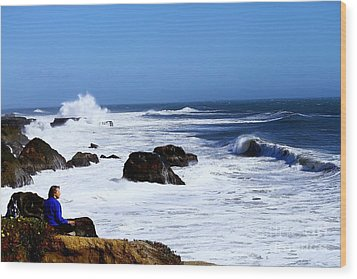 Wood Print featuring the photograph One With The Ocean by Theresa Ramos-DuVon