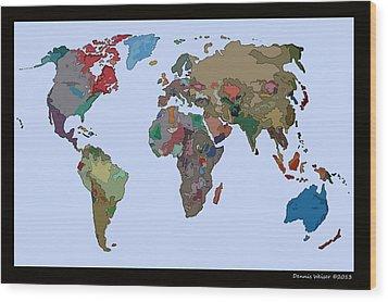 One World Wood Print by Dennis Weiser
