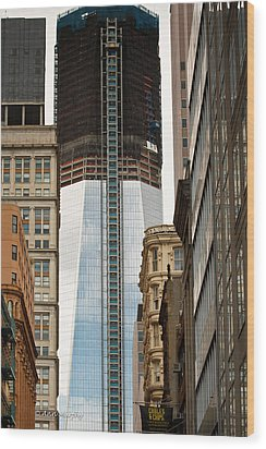 Wood Print featuring the photograph One World Trade Center #2 by Ann Murphy