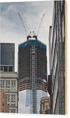 Wood Print featuring the photograph One World Trade Center by Ann Murphy