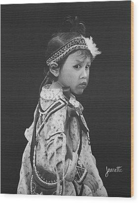 Oneida Girl Wood Print
