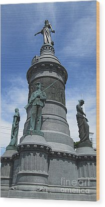Oneida Square Civil War Monument Wood Print by Peter Gumaer Ogden