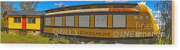 Oneills Streamline Diner - 04 Wood Print by Gregory Dyer