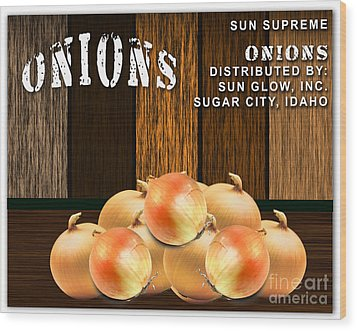 Onion Farm Wood Print