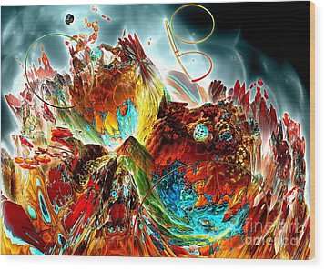 Oniric - 2 Wood Print by Bernard MICHEL