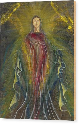 Only One Illuminates My Soul IIi Wood Print by Giorgio Tuscani