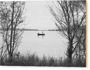 Ontario Fishing Trip Wood Print by Valentino Visentini