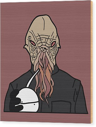 oOd Wood Print by Jera Sky