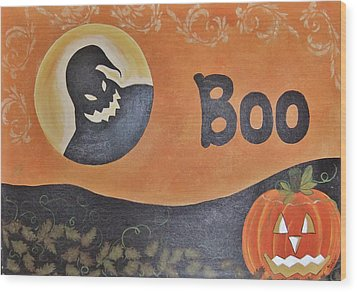 Oogie Boogie Boo Wood Print by Cindy Micklos