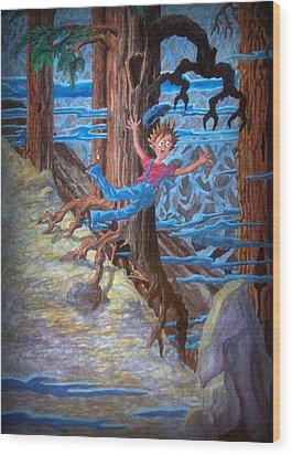 Wood Print featuring the painting Oooooh by Matt Konar