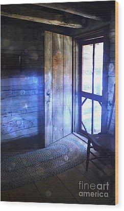 Open Cabin Door With Orbs Wood Print by Jill Battaglia