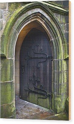 Open Church Door Wood Print
