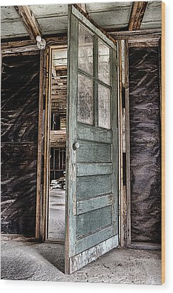 Open Door Wood Print by Caitlyn  Grasso