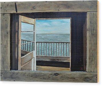 Open Door Wood Print by Lindsay Frost