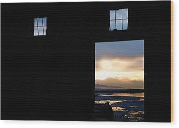Open Door Sunset - A Great Salt Lake Sunset Wood Print