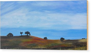 Open Field Wood Print by Melissa Torres