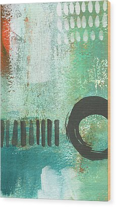 Open Gate- Contemporary Abstract Painting Wood Print by Linda Woods