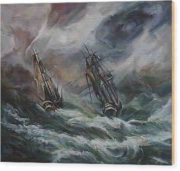 Open Sea - Dangerous Drift II Wood Print by Stefano Popovski