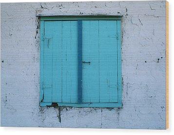Open Soon Wood Print by Paulette Maffucci