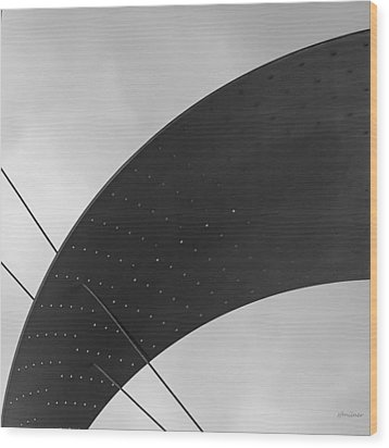 Wood Print featuring the photograph Opening Arch - Abstract by Steven Milner