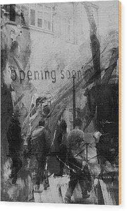 Opening Soon Wood Print by Jim Vance