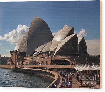 Opera House Famous Wood Print by John Swartz