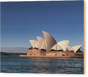 Opera House Wood Print by John Swartz