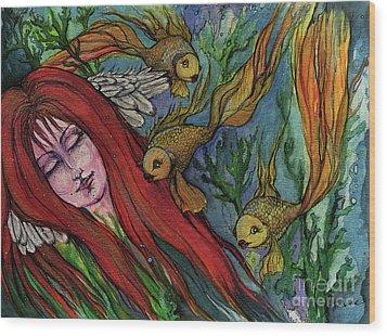 Ophelia Wood Print by Angel  Tarantella
