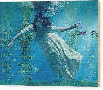 Ophelia Wood Print by Daniel Eskridge