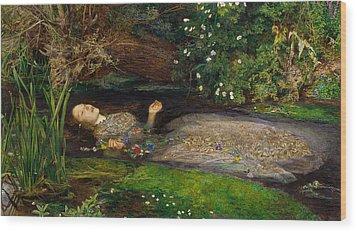 Ophelia  Wood Print by John Everett Millais