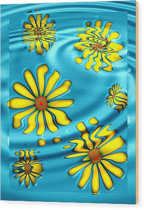 Ophelia's Daisies Wood Print by Wendy J St Christopher