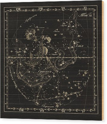 Ophiuchus Constellations, 1829 Wood Print by Science Photo Library
