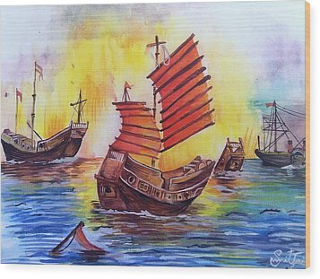 Opium War Wood Print by Sumit Jain