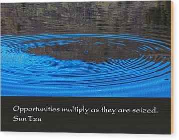 Opportunites Multiplied Wood Print by Omaste Witkowski
