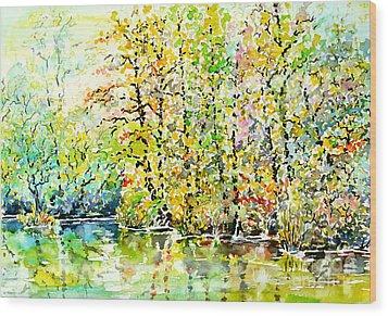 Opposite Riverside Wood Print