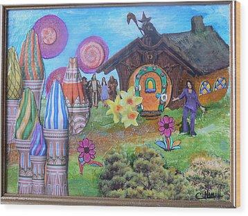 Oprah The Rainbow Wood Print by Catherine Hamill