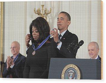 Oprah Winfrey Medal Of Freedom Wood Print