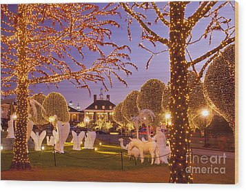Opryland Hotel Christmas Wood Print by Brian Jannsen