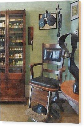 Optometrist - Eye Doctor's Office Wood Print by Susan Savad