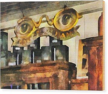 Optometrist - Spectacles Shop Wood Print by Susan Savad