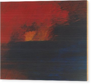 Orange 1985 Wood Print