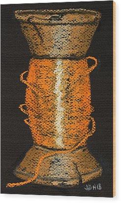 Orange 6 Wood Print by Joseph Hawkins