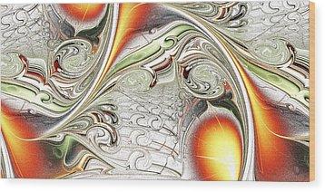 Orange Accent Wood Print by Anastasiya Malakhova