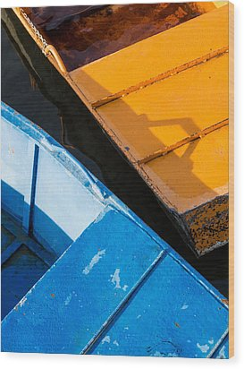 Orange And Blue Wood Print by Davorin Mance