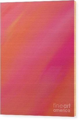 Orange And Raspberry Sorbet Abstract 1 Wood Print by Andee Design