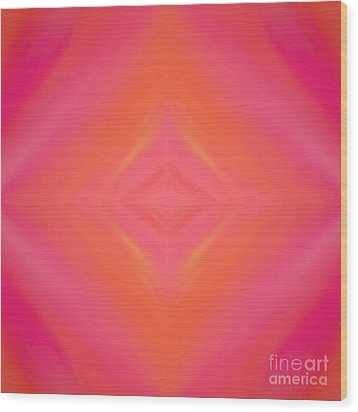 Orange And Raspberry Sorbet Abstract 4 Wood Print by Andee Design