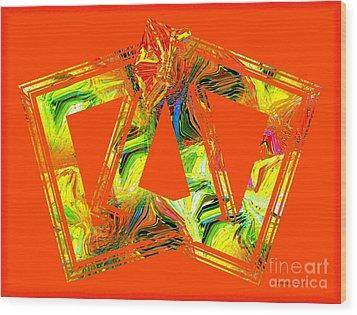 Orange And Yellow Art Wood Print by Mario Perez